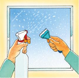 Nettoyer la vitre